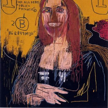 Mona Lisa, Exhibition Poster, Jean-Michel Basquiat