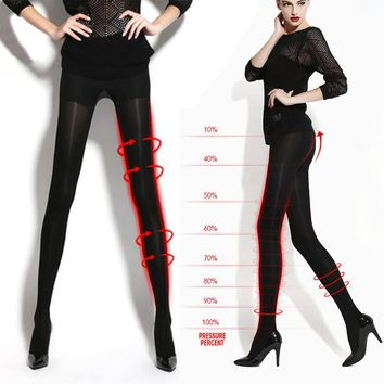2016 Spring Women Sexy Black Tights Make Leg Thinner Skinny Compression Tights New Arrival Stockings Pantyhose Tights Plus Size
