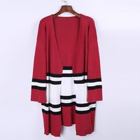 DCCK8H2 Women Knitted Loose Cardigan Sweater Coat