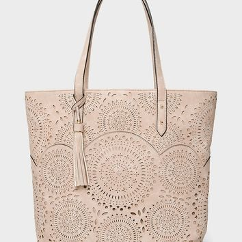 Perforated Medallion Tote | dressbarn