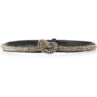 Stella McCartney | Crystal-embellished satin belt | NET-A-PORTER.COM