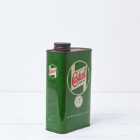 Green Vintage Oil Can Vintage Industrial Man Cave Antique Industrial Decor Rustic Home Decor Metal Shabby Chic Garage Decor Castrol Gear Oil