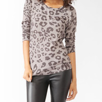 Animal Print Raglan Top