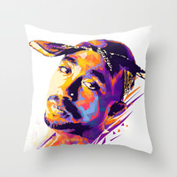 2pac: Dead Rappers Serie Throw Pillow by Largetosti