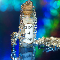 A Bit of Magic Necklace with a Carousel Charm by LifeistheBubbles