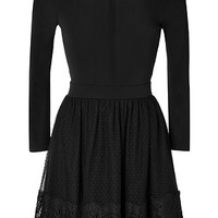 Valentino R.E.D. - Long Sleeve Dress with Lace Skirt