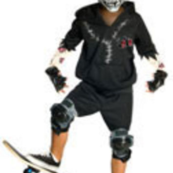 Boys Facepaint Skate Zombie Costume