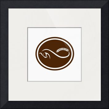 """Horse Malt Tail Mobius Strip Oval Retro"" by Aloysius Patrimonio"