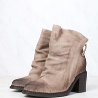 sbicca - millie womens suede leather booties - beige