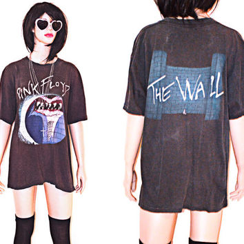 Vintage 80s 90s Pink Floyd Oversized The Wall Tee Shirt