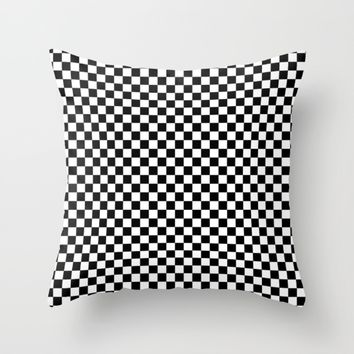 #5 Chessboard, squares Throw Pillow by Minimalist Forms