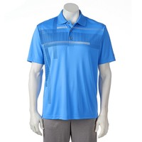 Grand Slam Classic-Fit Patterned Performance Golf Polo