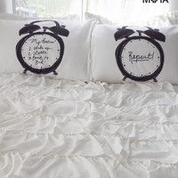 Aeropostale  Alarm Clock Pillow Case Set