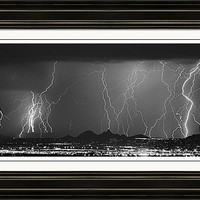 Lightning Long Exposure Framed Print