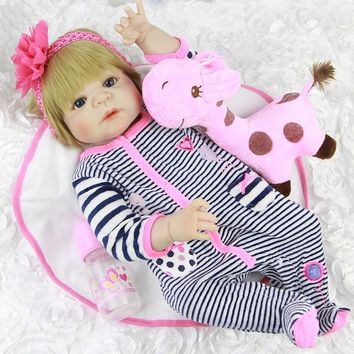 Silicone Baby - Reborn Full Body Doll - Realistic Baby Girl Doll