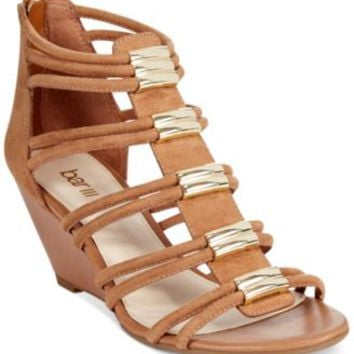 Bar III Krystal Mid-Wedge Sandals | macys.com