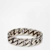 Seven London Chain Link Ring In Sterling Silver