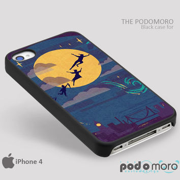 Peterpan Play Fly Above City for iPhone 4/4S, iPhone 5/5S, iPhone 5c, iPhone 6, iPhone 6 Plus, iPod 4, iPod 5, Samsung Galaxy S3, Galaxy S4, Galaxy S5, Galaxy S6, Samsung Galaxy Note 3, Galaxy Note 4, Phone Case