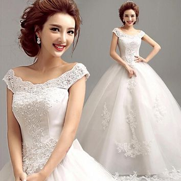 2016 Free Shipping Robe de Mariage Anna Campbell Lace Wedding Dress White Sexy Plus Size Vintage Belt Bridal Ball Gown Vestido