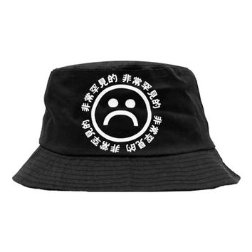 SAD BOYS BLACK BUCKET HAT