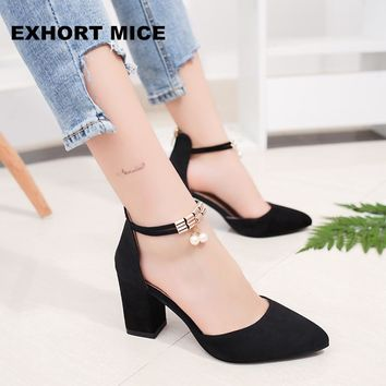 2017 Summer Women Shoes Pointed Toe Pumps  Dress Shoes High Heels Boat Shoes Wedding Shoes tenis feminino  Side with 01