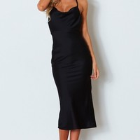 Night Like This Midi Dress Black