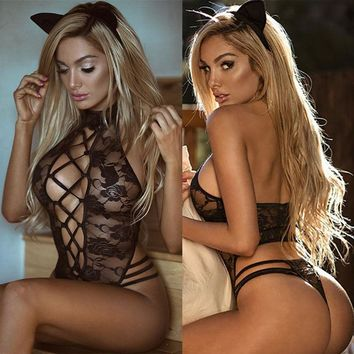 2017 Sexy Lingerie Lace Dress Babydoll Women's Underwear Nightwear Sleepwear
