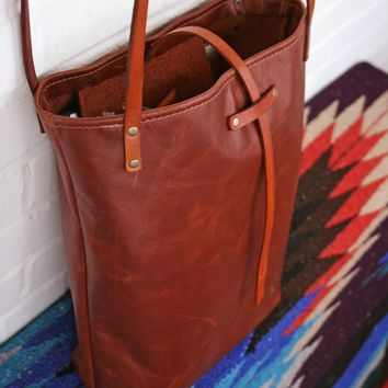 Leather Tote Bag (Unlined Interior)