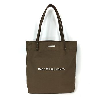 DAY TOTE TAUPE MADE BY FREE WOMEN
