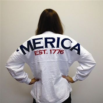 MERICA Spirit Football Jersey (White)