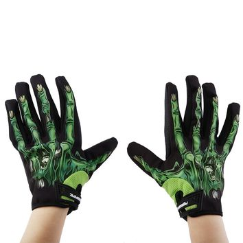 Universal Skeleton Bones Gloves Windproof Waterproof Full Finger Sports Outdoors Touch Screen Gloves Bike Cycling Motorcycle