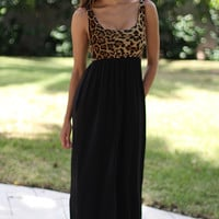 Leopard Maxi Dress With Pockets