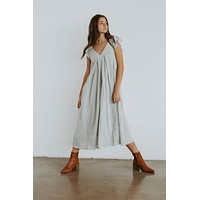 Warehouse Sale Long Listicle Dress in Blue