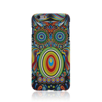 So Cool Night King Owl Handmade Luminous  Light Up iPhone creative cases for 5S 6 6S Plus