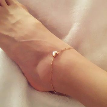 Women's Anklets jewelry heart AN20 For Ankle