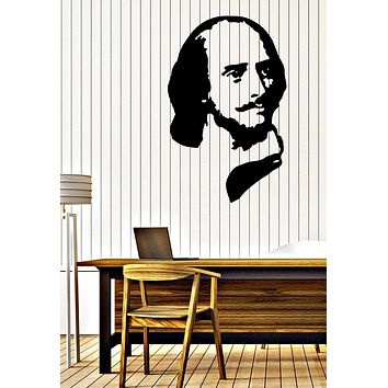 Wall Vinyl Decal William Shakespeare English Poet Playwright Actor Unique Gift z4708