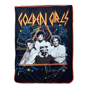 Official Golden Girls, Sherpa Fleece/Travel Cozy, Throw Blanket with Digital Printing, 45 X 60 inches