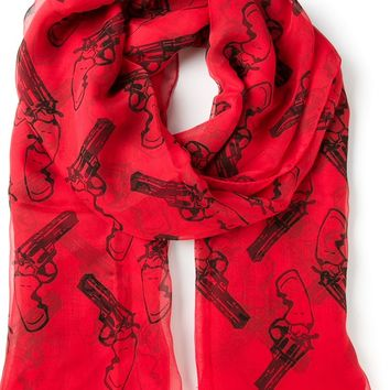 Saint Laurent gun pop scarf