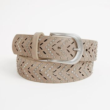BKE Chevron Belt - Women's Accessories in Taupe | Buckle