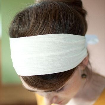 Katherines everyday headband in creamGarlands by GarlandsOfGrace