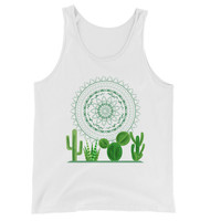 Cacti and mandala festive Unisex Tank Top