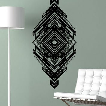 Vinyl Wall Decal Sticker Tribal Diamond Design #5503