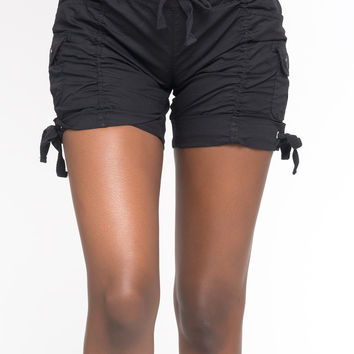 RUCHED DRAW STRING SHORTS