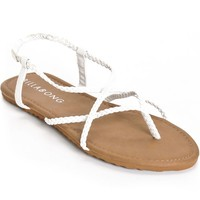 Billabong Crossing Over White Sandals
