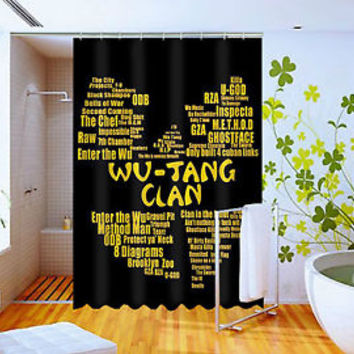 Hot New Wu tang Quotes  High Quality Custom Shower Curtain 60 x 72