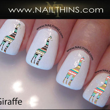 Tribal Giraffe Nail Decal Nail Art  Nail Designs NAILTHINS