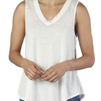 Another Love Allison White Burnout Tank