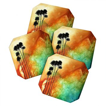 Madart Inc. Desert Mirage Coaster Set