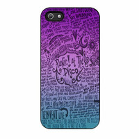 audrey hepburn quotes & panic at the disco lyric2 case for iphone 5 5s
