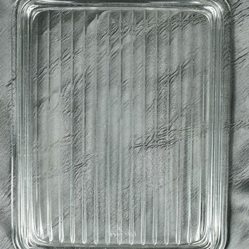 Pyrex 503-C Clear Glass Ribbed Refrigerator Dish Lid Only - Replacement